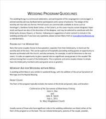 Wedding Bulletin Template Sample Wedding Program Template 9 Documents In Pdf