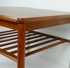 Teak Side Table Furniture Mid Century Scandinavian Teak Side Table With Magazine
