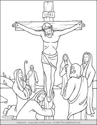 jesus on the cross coloring page glum me