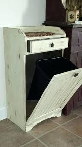 Kitchen Island With Trash Bin Wooden Kitchen Trash Can Holder Plans Grey Microwave Kitchen Cart
