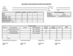 engineering inspection report template painting report template