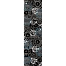 rug runners contemporary contemporary circles grey blue area rug runner 2 x 7 2 free