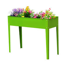 raised garden flower bed elevated plant box deck herb vegetable