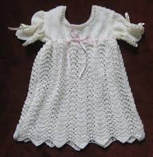 ravelry feather and fan baby christening dress pattern by marina