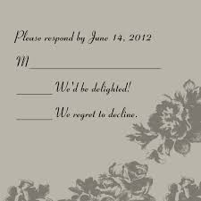 wedding response card wording card design ideas