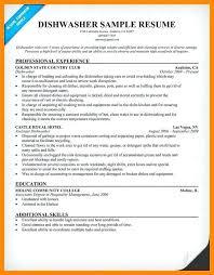 Dishwasher Description For Resume Dishwasher Sample Resume U2013 Topshoppingnetwork Com