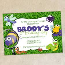 bugs party invitation template insects bug party invite