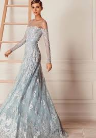 blue wedding dresses fairytale wedding dress dusty blue wedding dress hamda al fahim