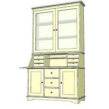 tall secretary desk with hutch tall secretary desk with hutch home office design regard to plan 13