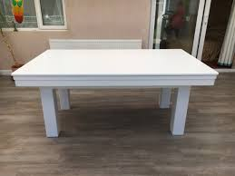 Pool Dining Table by Modern 6ft Pool Dining Table In White Silver Pool Table Company