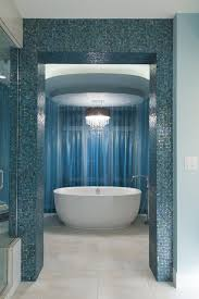 blue tiles bathroom ideas bathroom electic blue bathroom with oval white modern ceramic