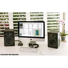 Refurbished Bookshelf Speakers Audioengine A5 Black Pr Powered Bookshelf Speakers Huppin U0027s