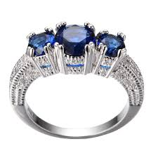 white gold engagement rings uk gorgeous 5 0 ct blue sapphire silver engagement ring 10kt white