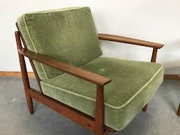 Next Armchairs Pair Of Danish Armchairs In Teak And Green Velvet 1960s Design