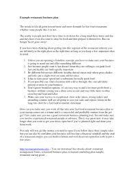 simple restaurant business plan business plan cmerge