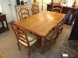 ethan allen legacy dining table with eight chairs windsor cottage