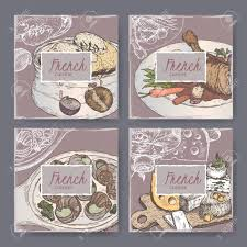 cuisiner un coq au four set of four cuisine templates includes color
