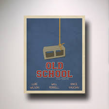 old inspired minimalist movie poster man cave wall