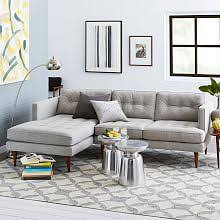 West Elm Sectional Sofa Modern Living Room Sectional Sofas And Couches West Elm Sofas