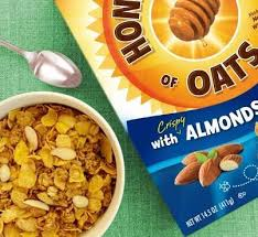 honey bunches of oat hbo almond cereal family size walmart com