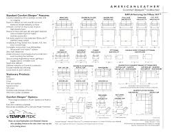 Standard Sofa Size by American Leather Comfort Sleeper Assembly Instructions