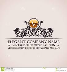 luxury logo calligraphic pattern decor stock vector