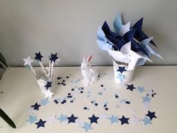 dã co mariage vintage kit décoration étoile bleu ciel bleu marine et blanc idéal pour