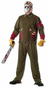 jason costumes friday the 13th deluxe jason voorhees costume walmart