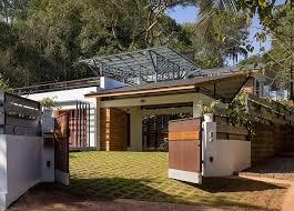 this sprawling residence in goa wraps around a split level