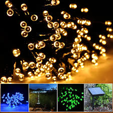 String Lights Patio Ideas by Amazon Com Lychee Solar Powered String Light 55ft 17m 100 Led
