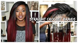 ombre crochet braids burgundy ombre crochet braids 24 inches leeven