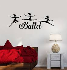 vinyl wall decal ballet dancing girls dance room stickers art