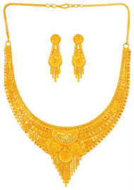 gold necklace earring sets images 22 karat gold necklace earring set stgo23916 sets necklace jpg