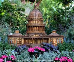 Us Botanic Garden Miniature Replica Of The Capitol As Seen At The Us Botanic Garden