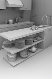 3d Kitchen Designs Blackspike Design Ltd Blender 3d Kitchen Model