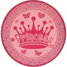 Pink Round Rug Nursery Amazon Com Pink Accent Rug This Round Pink Princess Rug Is