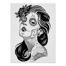 Day Of The Dead White Day Of The Dead Posters Zazzle