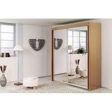 armoire miroir chambre armoire à portes coulissantes façade miroir 250 achat vente