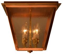 copper flush mount light carolina colonial electric copper ceiling lantern light