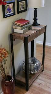 Barn Wood Sofa Table by Reclaimed Wood And Steel Console Table Reclaimed Wood Sofa