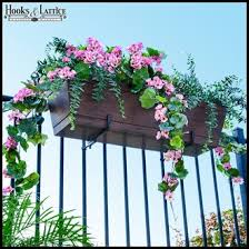 Flower Pot Holders For Fence - window box brackets and plant hangers hooks u0026 lattice