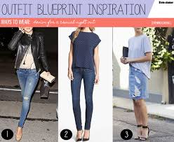 inspiration ways to wear denim for a casual night out