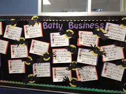 batty business halloween bulletin board idea myclassroomideas com