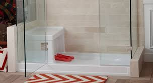 Bathroom Shower Base White Acrylic Shower Base With Seat 60 X 30 And Glass Door Ideas