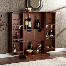 Bar Cabinets For Home by Amazon Com Southern Enterprises Fold Away Bar Cabinet Walnut