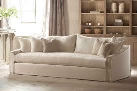 sleeper sofa slip cover white linen sofa slipcovers centerfieldbar com
