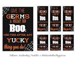 free halloween gift tags detail oriented diva halloween handwashing printable decor or gift