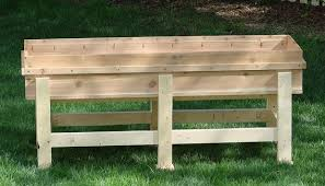 Garden Bench With Planters Waist High Planter Box 6 Steps With Pictures