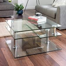 Uk Coffee Tables Jacque Extending Glass Coffee Table Clear Dwell