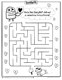 valentine u0027s day maze help the storybot deliver a valentine to a
